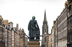Statue of Adam Smith on the Royal Mile in Edinburgh, Scotland UK