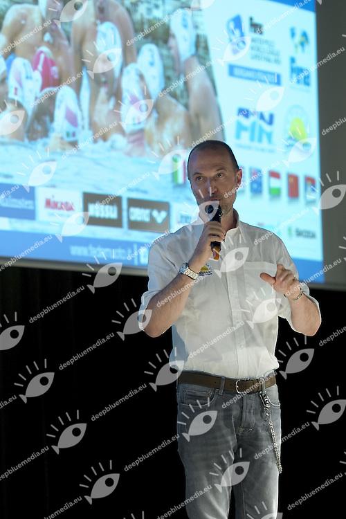 Massimo Baldi vice presidente Bergamo Pallanuoto<br /> Opening Ceremony<br /> day 00 - 22/06/2015<br /> FINA Water Polo World League Superfinal Men<br /> Bergamo (ITA) 23-28 June 2015<br /> Photo G.Scala/Deepbluemedia
