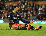 9. Hal Robson-Kanu missing easy chance to put Reading ahead during the Sky Bet Championship match between Fulham and Reading at Craven Cottage, London, England on 17 January 2015. Photo by Matthew Redman.