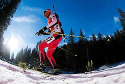 ILIEV Vladimir (BUL) competes during Men 12,5 km Pursuit at day 3 of IBU Biathlon World Cup 2014/2015 Pokljuka, on December 20, 2014 in Rudno polje, Pokljuka, Slovenia. Photo by Vid Ponikvar / Sportida