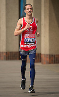 Virgin Money London Marathon 2015<br /> <br /> Oliver Proudlock-UK (Made in Chelsea) one of the celebrities  competing in the Virgin Money London Marathon<br /> <br /> Photo: Bob Martin for Virgin Money London Marathon<br /> <br /> This photograph is supplied free to use by London Marathon/Virgin Money.