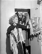 27/11/1952<br /> 11/27/1952<br /> 27 November 1952<br /> Miss Wendy Butler at Mount Merrion, Dublin. Miss Butler would appear to have been in the costume business.