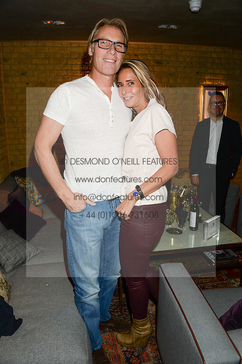 DAMIAN ASPINALL and TARA BERNERD at the Launch of Pont St Restaurant at Belgraves Hotel, 20 Chesham Place, London SW1 on 10th September 2013.