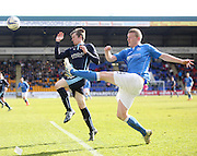 St Johnstone's Brian Easton clears from Dundee's Craig Wighton - St Johnstone v Dundee, SPFL Premiership at McDiarmid Park<br /> <br />  - &copy; David Young - www.davidyoungphoto.co.uk - email: davidyoungphoto@gmail.com