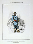 Paris Commune 26 March-28 May 1871.  Commune types: Commandant and engineer of barricades (Citizen Gaillard pere).