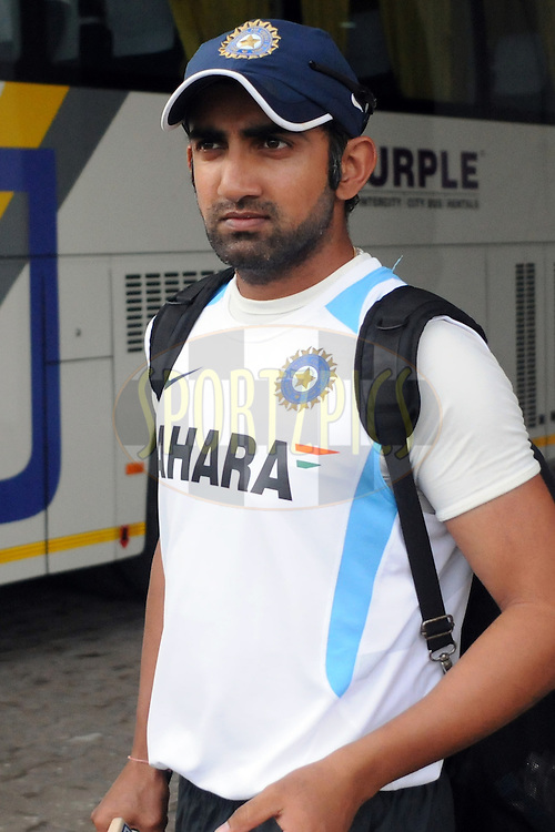 Gautam Gambhir of India  during the nets sessions held at the Vidarbha Cricket Stadium in Nagpur on the 19th November 2010..Photo by Pal Pillai/BCCI/SPORTZPICS