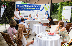 Press conference 2 weeks before ATP Challenger Zavarovalnica Sava Slovenia Open 2017, on July 16, 2017 in TC Breskvar, Ljubljana, Slovenia. Photo by Vid Ponikvar / Sportida