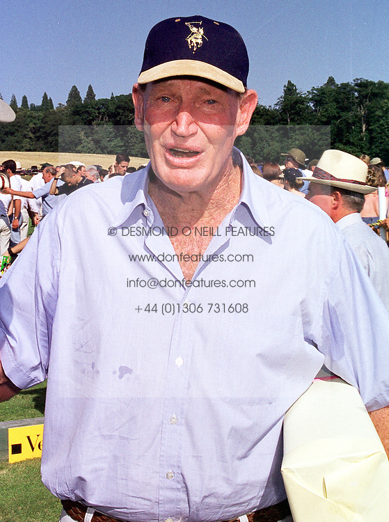 MR KERRY PACKER the Australian multi-millionaire, at a polo match in West Sussex on 18th July 1999.MUH 116