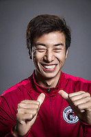 Portrait of Chinese soccer player Li Jiahe of Liaoning Whowin F.C. for the 2017 Chinese Football Association Super League, in Foshan city, south China's Guangdong province, 24 January 2017.