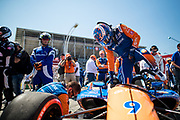 Scott Dixon from New Zealand, Chip Ganassi Racing, Honda, getting into the Car, pregrid, grid, INDY car race, TORONTO race in the  Streets of Toronto - Ontario, Canada,   Fee liable image, Copyright © ATP Marcel LANGER