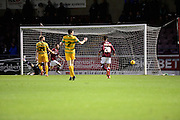 Northampton Town forward Marc Richards scores the second goal for Northampton during the Sky Bet League 2 match between Northampton Town and Yeovil Town at Sixfields Stadium, Northampton, England on 28 November 2015. Photo by Dennis Goodwin.