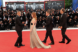 Suburbicon premiere at the 74th Venice Film Festival. 02 Sep 2017 Pictured: VENICE, ITALY - SEPTEMBER 02: Alexandre Desplat, Matt Damon, Julianne Moore and George Clooney walk the red carpet ahead of the 'Suburbicon' screening during the 74th Venice Film Festival at Sala Grande on September 2, 2017 in Venice, Italy. Photo credit: MEGA TheMegaAgency.com +1 888 505 6342