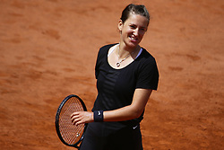 May 23, 2019 - Paris, France - Victoria Azarenka of Belarus in action during a training session preparing for the Roland Garros finals in Paris, France, on 23 May 2019. (Credit Image: © Ibrahim Ezzat/NurPhoto via ZUMA Press)