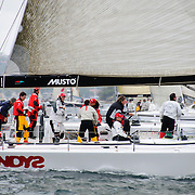 The 2009 Rolex Sydney to Hobart Yacht Race start in Sydney Harbour. New Zealand supermaxi Alfa Romeo II won overall line honours