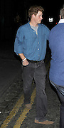 27.MAY.2011. LONDON<br /> <br /> PRINCE HARRY LEAVING PUBLIC NIGHT CLUB IN CHELSEA AT 2.30AM WITH DRINK STAINS ON HIS SHIRT LOOKING A LITTLE WORSE FOR WEAR AFTER PARTYING WITH COUSIN PRINCESS EUGENIE<br /> <br /> BYLINE: EDBIMAGEARCHIVE.COM<br /> <br /> *THIS IMAGE IS STRICTLY FOR UK NEWSPAPERS AND MAGAZINES ONLY*<br /> *FOR WORLD WIDE SALES AND WEB USE PLEASE CONTACT EDBIMAGEARCHIVE - 0208 954 5968*