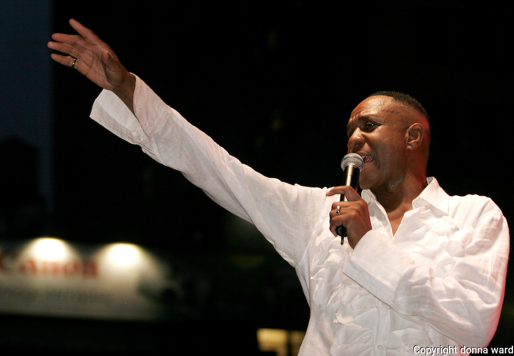 Freddie Jackson performs at the J&R Downtown Music Fest opening night Thursday, August 24, 2006 in New York.