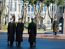 Changing of the guard, Freedom Monument - Riga, Latvia