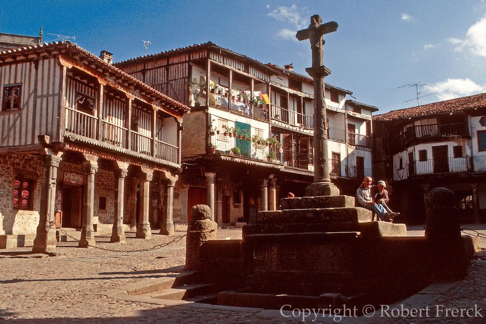 SPAIN, CASTILE  and amp; LEON La Alberca; rustic medieval village