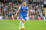 Ipswich Town midfielder Alan Judge (31) sprints forward with the ball during the EFL Sky Bet Championship match between Aston Villa and Ipswich Town at Villa Park, Birmingham, England on 26 January 2019.