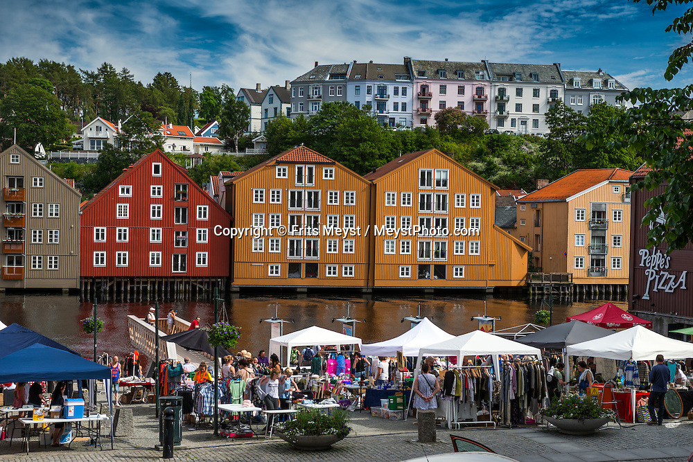 Trondheim, Trondelag, Norway, July 2015. Nidaros Cathedral in Trondheim is the largest medieval building in Scandinavia and the most important church in Norway. The Historical centre of Trondheim. Trøndelag lies at the heart of Norway's identity. The rolling hills of the interior with its traditional ox-blood coloured farm houses grow a wealth of produce. In the west the coastline is sculpted by a maze of fjords and islands home to small fishing communities. Photo by Frits Meyst / MeystPhoto.com