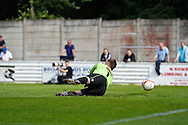 Picture by David Horn/Focus Images Ltd. 07545 970036.04/08/12.Harry Ricketts of Chesham United is unable to prevent another goal from Arsenal during a friendly match at The Meadow, Chesham.