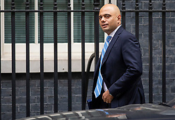© Licensed to London News Pictures. 10/07/2018. London, UK. Home Secretary Sajid Javid arrives on Downing Street for the Cabinet meeting. Photo credit: Rob Pinney/LNP