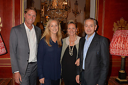 Left to right, KEVIN WEAVER, KATHERINE HOOKER, HEATHER WEAVER and MARK FARLEY at a party at Guinevere 574-580 ing's Road, London on 7th October 2014.