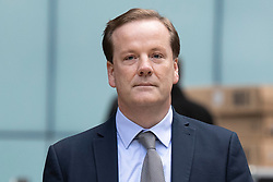 © Licensed to London News Pictures. 06/07/2020. London, UK. Charlie Elphicke arrives at Southwark Crown Court with his wife Natalie Elphicke (unseen) . The former MP for Dover faces three charges of sexual assault against two women .  Photo credit: George Cracknell Wright/LNP
