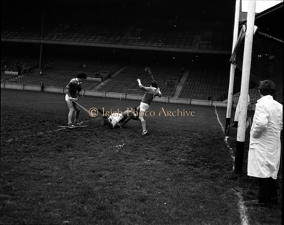 01/11/1970<br /> 11/01/1970<br /> 1 November 1970<br /> All-Ireland Under-21 Hurling Final: Cork v Wexford at Croke Park, Dublin.<br /> The score that baffled the crowd (and some of the officials) : Cork&rsquo;s B. Cummins flashed in the ball, losing his stick, but checking up a second goal for the winners, as P. Cox, Wexford goalie, fails to stop him.