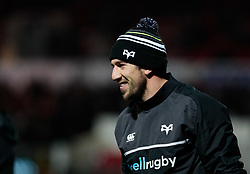 Ospreys' Justin Tipuric during the pre match warm up<br /> <br /> Photographer Simon King/Replay Images<br /> <br /> Guinness Pro14 Round 12 - Dragons v Cardiff Blues - Sunday 31st December 2017 - Rodney Parade - Newport<br /> <br /> World Copyright © 2017 Replay Images. All rights reserved. info@replayimages.co.uk - http://replayimages.co.uk
