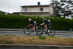 Karol-Ann Canuel (CAN) and Julie Leth (DEN) with four local laps to go at Ladies Tour of Norway 2018 Stage 2, a 127.7 km road race from Fredrikstad to Sarpsborg, Norway on August 18, 2018. Photo by Sean Robinson/velofocus.com