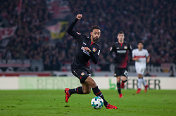 December 8, 2017 - Stuttgart, Germany - Leverkusens Karim Bellarabi initiates a counter during the Bundesliga match between VfB Stuttgart and Bayer 04 Leverkusen at Mercedes-Benz Arena on December 8, 2017 in Stuttgart, Germany. (Credit Image: © Bartek Langer/NurPhoto via ZUMA Press)