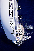 Twizzle sailing during the Caribbean Superyacht Regatta and Rendezvous, race 2.