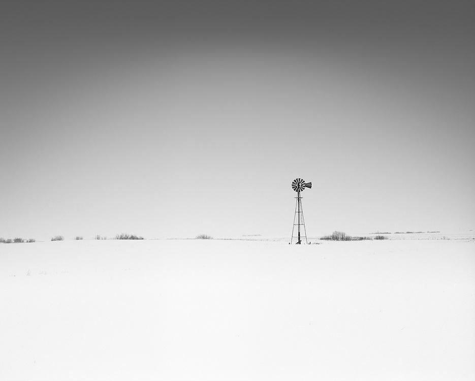 A lone windmill