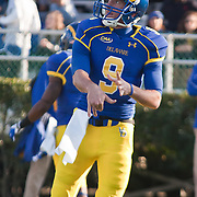 11/12/11 Newark DE: Delaware Quarterback Tim Donnelly #9 attempts a pass in the back field during warm ups prior to a Week 10 NCAA football game against Richmond...Special to The News Journal/SAQUAN STIMPSON