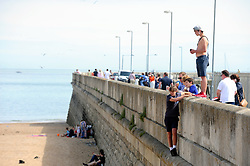 &copy; Licensed to London News Pictures. 03/06/2017<br /> Ramsgate beach front.<br /> Sunny weather this afternoon in Ramsgate, Kent.<br /> Photo credit: Grant Falvey/LNP