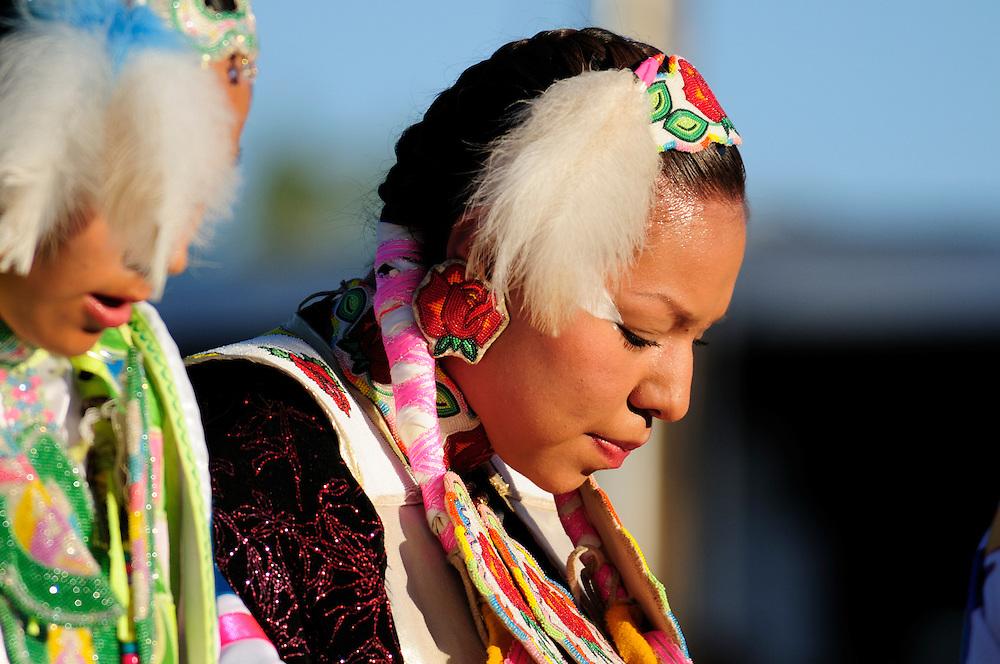 Crow Fair Indian Pow Wow, Crow Agency, Montana, USA.