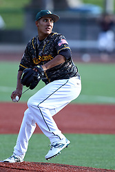 03 June 2016:  Matthew Chavarria during a Frontier League Baseball game between the Windy City Thunderbolts and the Normal CornBelters at Corn Crib Stadium on the campus of Heartland Community College in Normal Illinois