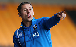 """Port Vale manager Michael Brown during the pre-season friendly match at Vale Park, Stoke. PRESS ASSOCIATION Photo. Picture date: Tuesday August 1, 2017. See PA story SOCCER Port Vale. Photo credit should read: Nick Potts/PA Wire. RESTRICTIONS: EDITORIAL USE ONLY No use with unauthorised audio, video, data, fixture lists, club/league logos or """"live"""" services. Online in-match use limited to 75 images, no video emulation. No use in betting, games or single club/league/player publications."""