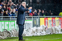 DEVENTER - 13-01-2017, Go Ahead Eagles - AZ,  Stadion Adelaarshorst, 1-3, GA Eagles-trainer Hans de Koning, sneeuw.