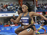 Feb 11, 2017; New York, NY, USA; Dezerea Bryant (USA) wins the women's 60m in 7.12 during the 110th Millrose Games at The Armory.