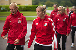 CARDIFF, WALES - Friday, August 19, 2016: Wales' Sophie Ingle and Kylie Davies during a pre-match walk at the Vale Resort ahead of the international friendly match against Republic of Ireland. (Pic by Laura Malkin/Propaganda)