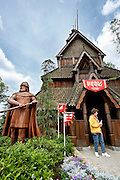 Orlando, Florida, USA, 20090325:   The Disney EPCOT Center in Orlando. A Stave Church at the Norway Pavillion. Photo: Orjan F. Ellingvag/ Dagbladet/ Corbis