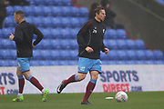 Kyle Wootton Scunthorpe Forward warms up during the EFL Sky Bet League 1 match between Oldham Athletic and Scunthorpe United at Boundary Park, Oldham, England on 28 October 2017. Photo by George Franks.