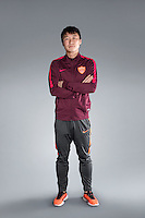 Portrait of Chinese soccer player Jiang Hongquan of Yanbian Funde F.C. for the 2017 Chinese Football Association Super League, in Namhae County, South Gyeongsang Province, South Korea, 11 February 2017.
