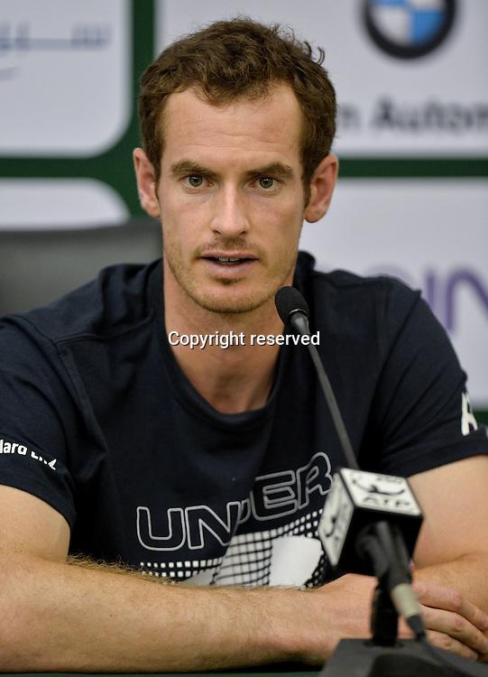02.01.2017. Doha, Qatar. Pre-tournament press conference for top seeds Andy Murray (gbr) and Novak Djokovic (ser).