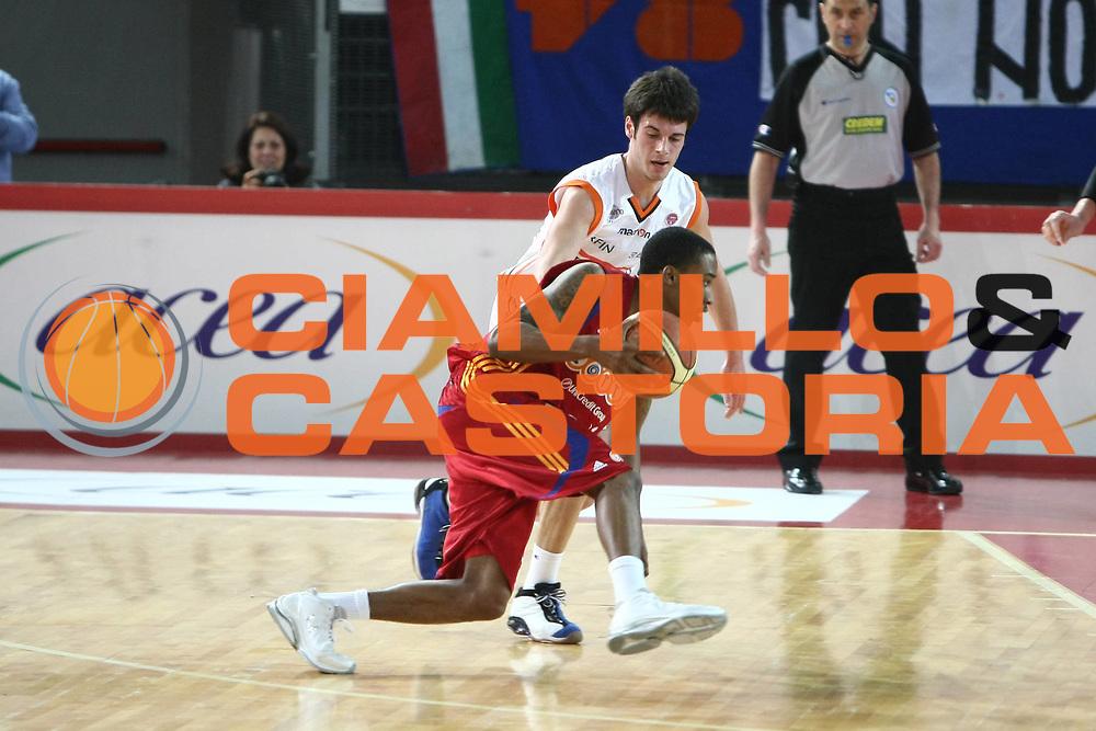 DESCRIZIONE : Roma Lega A1 2008-09 Lottomatica Virtus Roma Snaidero Udine<br /> GIOCATORE : Brandon Jennings<br /> SQUADRA : Lottomatica Virtus Roma <br /> EVENTO : Campionato Lega A1 2008-2009<br /> GARA : Lottomatica Virtus Roma Snaidero Udine<br /> DATA : 01/03/2009<br /> CATEGORIA : Penetrazione<br /> SPORT : Pallacanestro<br /> AUTORE : Agenzia Ciamillo-Castoria/C.De Massis