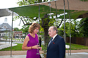 JULIA PEYTON-JONES; LORD PALUMBO, 2009 Serpentine Gallery Summer party. Sponsored by Canvas TV. Serpentine Gallery Pavilion designed by Kazuyo Sejima and Ryue Nishizawa of SANAA. Kensington Gdns. London. 9 July 2009.