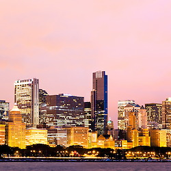 Chicago panorama skyline high resolution image. Images were taken in late 2010 and the panorama ratio is 6:1.