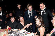 BEN DREW; ( PLAN B ); SIR ELTON JOHN; DAVID FURNISH; , Grey Goose Winter Ball to Benefit the Elton John AIDS Foundation. Battersea park. London. 29 October 2011. <br /> <br />  , -DO NOT ARCHIVE-© Copyright Photograph by Dafydd Jones. 248 Clapham Rd. London SW9 0PZ. Tel 0207 820 0771. www.dafjones.com.